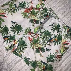 Men's Palm Tree Swimming Shorts Size Medium